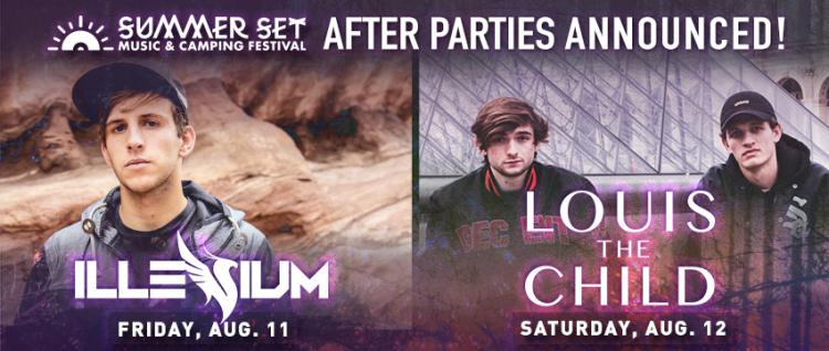 Summer Set Reveals Official After Parties w/ Illenium & Louis The Child!