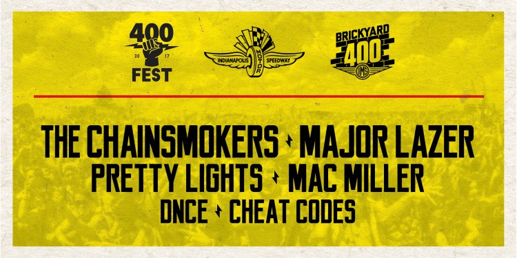 The Chainsmokers & Major Lazer Headline Nascar's 400 Fest